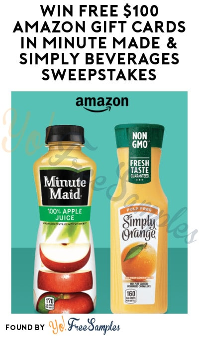 Enter Daily: Win FREE $100 Amazon Gift Cards in Minute Made & Simply Beverages Sweepstakes