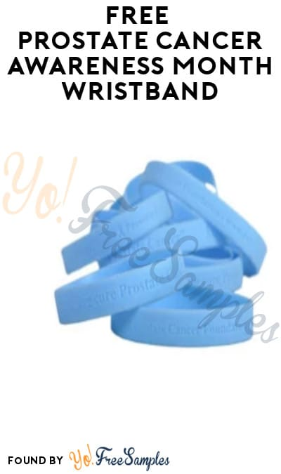 FREE Prostate Cancer Awareness Month Wristband