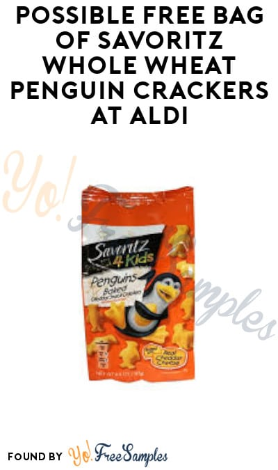 Possible FREE Bag of Savoritz Whole Wheat Penguin Crackers at Aldi (Sale Price + Ibotta Required)