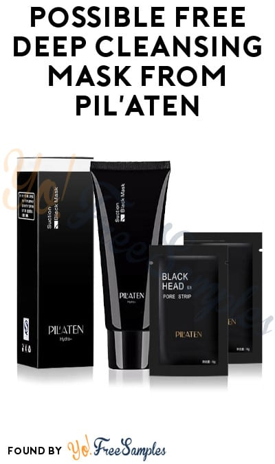 Possible FREE Deep Cleansing Mask from Pil'Aten
