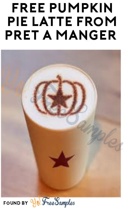 FREE Pumpkin Pie Latte from Pret A Manger (In-Stores Only & App Required)