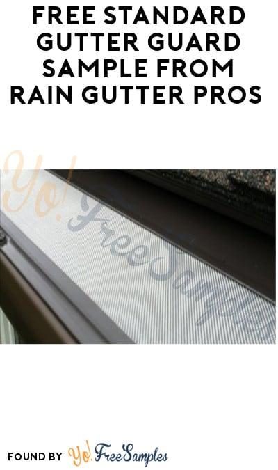 FREE Standard Gutter Guard Sample from Rain Gutter Pros