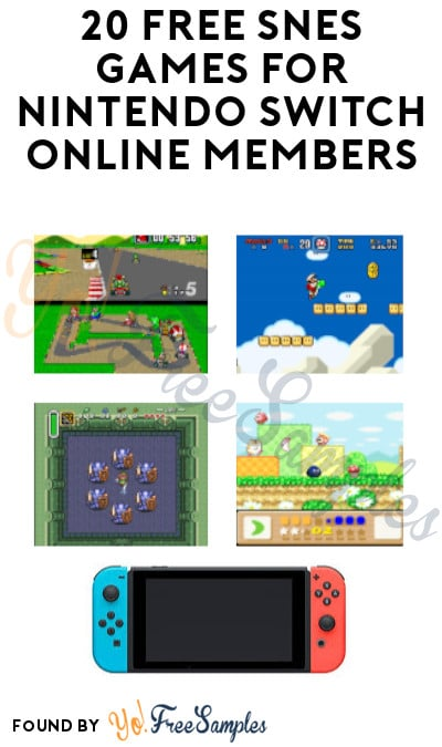 20 FREE SNES Games for Nintendo Switch Online Members