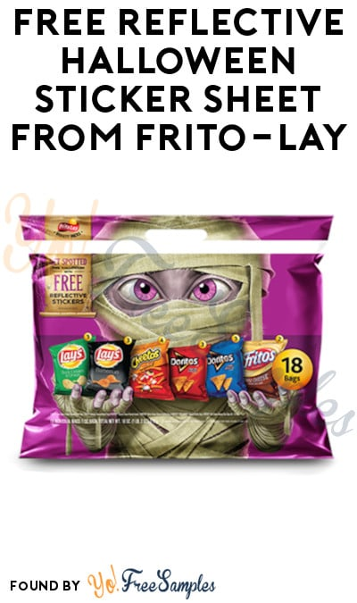 FREE Reflective Halloween Sticker Sheet from Frito-Lay