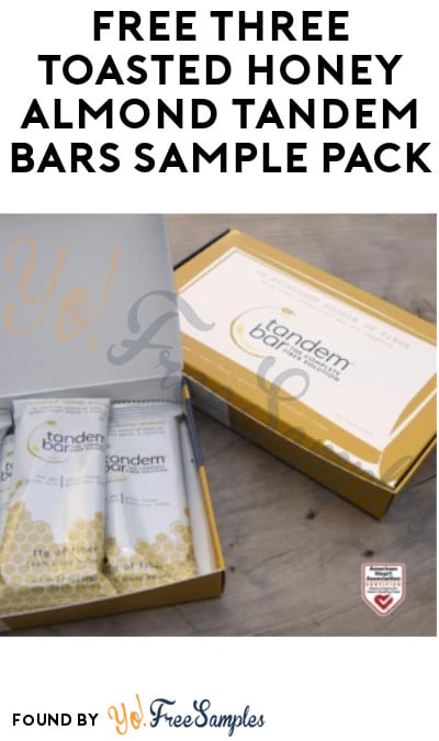 FREE Three Toasted Honey Almond Tandem Bars Sample Pack