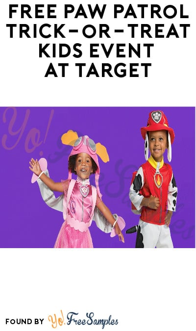 FREE PAW Patrol Trick-or-Treat Kids Event at Target