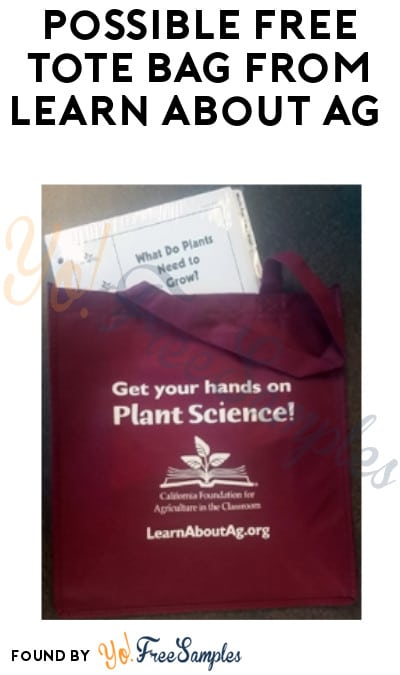 Possible FREE Tote Bag from Learn About Ag (Company Name Required)