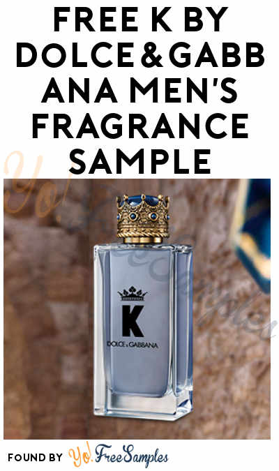 FREE K by Dolce&Gabbana Men's Fragrance Sample [Verified Received By Mail]