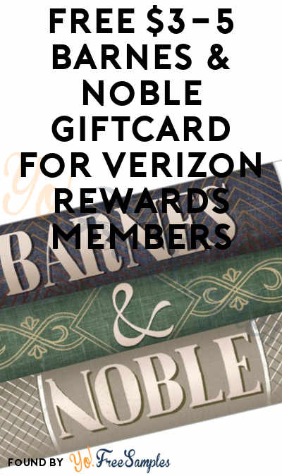 photograph regarding Barnes and Noble Printable Gift Card identified as Free of charge $3-5 Barnes Noble Giftcard For Verizon Added benefits
