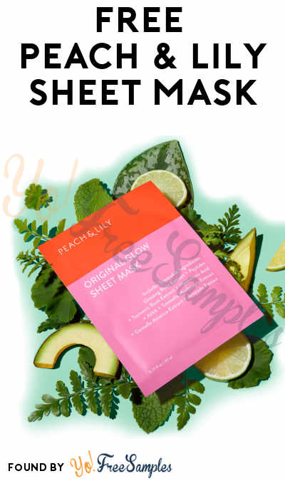 FREE Peach & Lily Sheet Mask (Instagram Required)