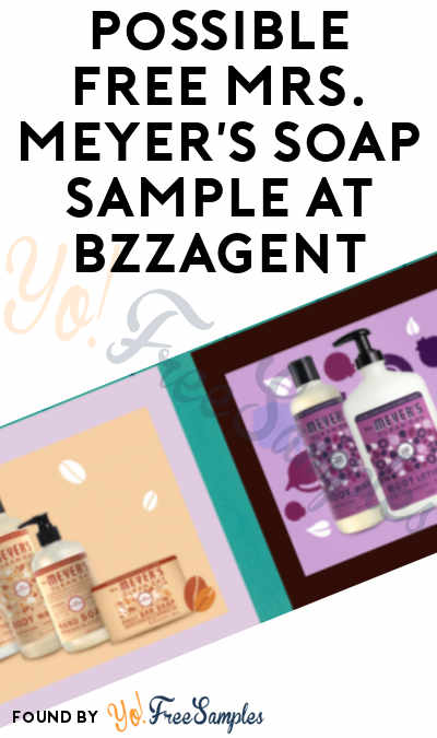 Possible FREE Mrs. Meyer's Soap Sample At BzzAgent