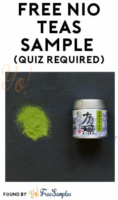 FREE Nio Teas Sample (Quiz Required)