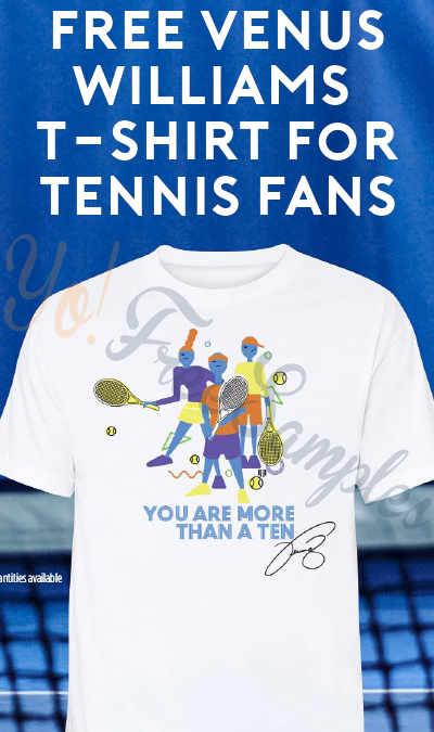 FREE Venus Williams T-Shirt For Tennis Fans
