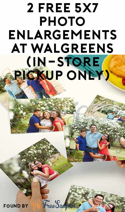 Today 10/22 Only: 2 FREE 5×7 Photo Enlargements At Walgreens (In-Store Pickup Only)