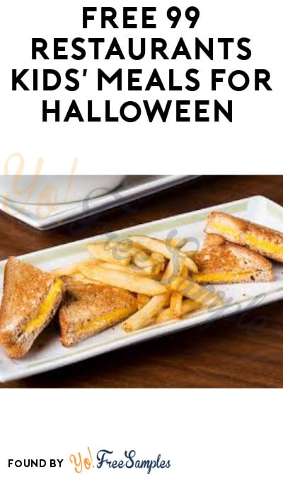 FREE 99 Restaurants Kids' Meals for Halloween (Ages 10 & Under + Purchased Required)