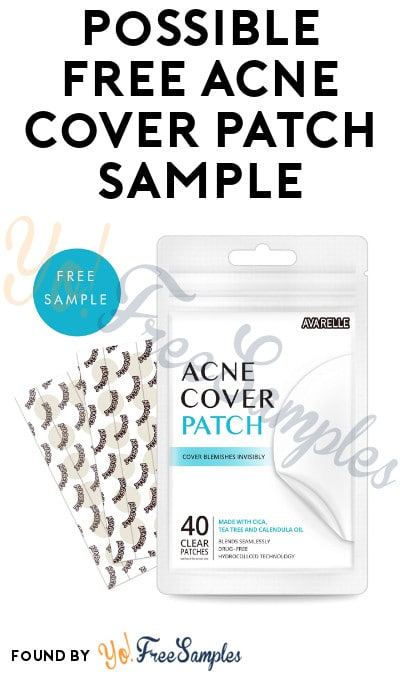 Possible FREE Acne Cover Patch Sample
