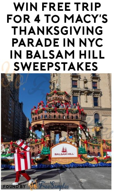 Enter Daily: Win FREE Trip for 4 to Macy's Thanksgiving Parade in NYC in Balsam Hill Sweepstakes