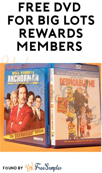 FREE DVD for BIG Lots Rewards Members