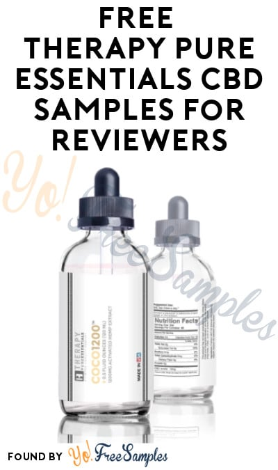 FREE Therapy Pure Essentials CBD Samples for Reviewers (Must Apply)