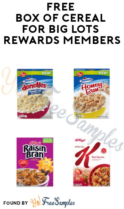 FREE Box of Cereal for Big Lots Rewards Members (Rewards Card Required)