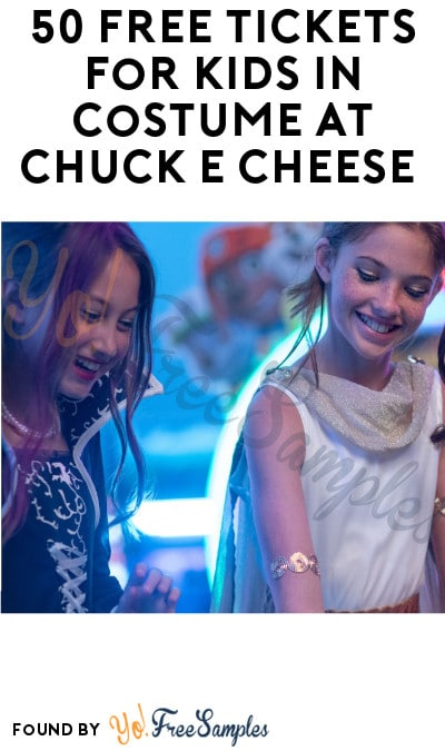 50 FREE Tickets for Kids in Costume at Chuck E Cheese