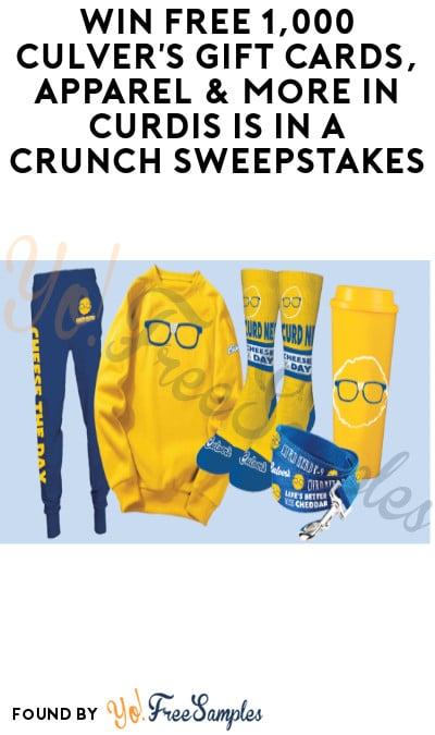 Enter Daily: Win FREE 1,000 Culver's Gift Cards, Apparel & More in Curdis Is In A Crunch Sweepstakes