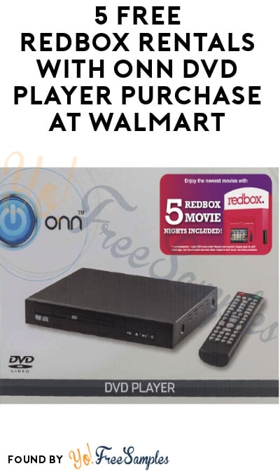 5 FREE Redbox Rentals with ONN DVD Player Purchase at Walmart (Available 10/19)