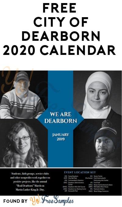 FREE City of Dearborn 2020 Calendar
