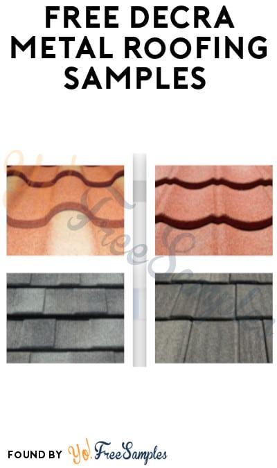 FREE DECRA Metal Roofing Samples