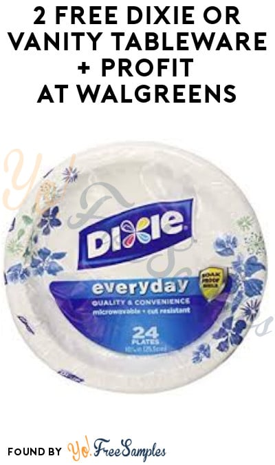 2 FREE Dixie or Vanity Tableware Items + Profit at Walgreens (Ibotta & Coupons Required)