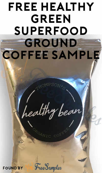 FREE Healthy Green Superfood Ground Coffee Sample