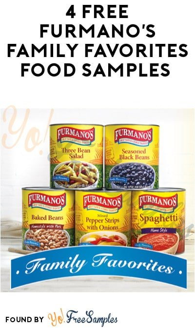 4 FREE Furmano's Family Favorites Food Samples (Food Service Professionals Only)