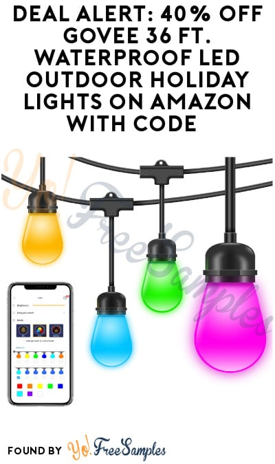 DEAL ALERT: 40% Off Govee 36 Ft. Waterproof LED Outdoor Holiday Lights on Amazon with Code