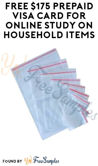 FREE $175 Prepaid Visa Card for Online Study on Household Products (Must Apply)