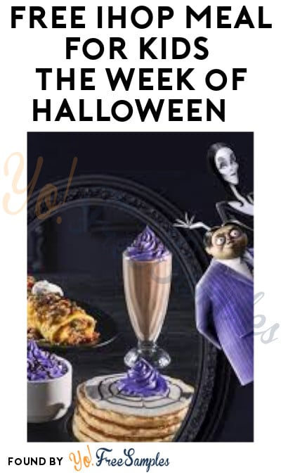FREE IHOP Meal for Kids the Week of Halloween (Purchased Required)