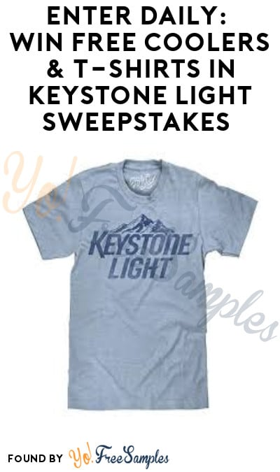Enter Daily: Win FREE Coolers & T-Shirts in Keystone Light Sweepstakes (Ages 21 & Older Only)