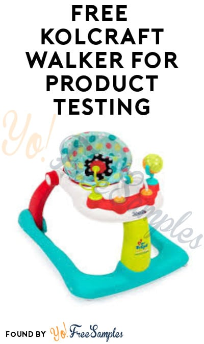 FREE Kolcraft Walker for Product Testing (Must Apply)