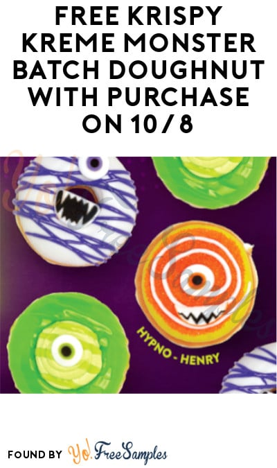 FREE Krispy Kreme Monster Batch Doughnut with Any In-Store Purchase on 10/8 (Rewards Members Only)