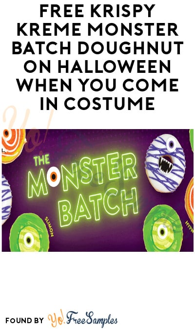 FREE Krispy Kreme Monster Batch Doughnut on Halloween When You Come In Costume