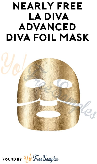 Nearly FREE La Diva Advanced Diva Foil Mask (Only $1.50 Shipping)