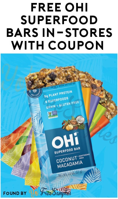 FREE Full-Size OHi Superfood Bar