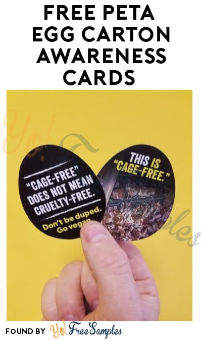 FREE PETA Egg Carton Awareness Cards