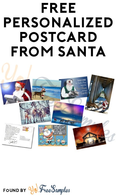 FREE Personalized Postcard from Santa [Verified Received By Mail]