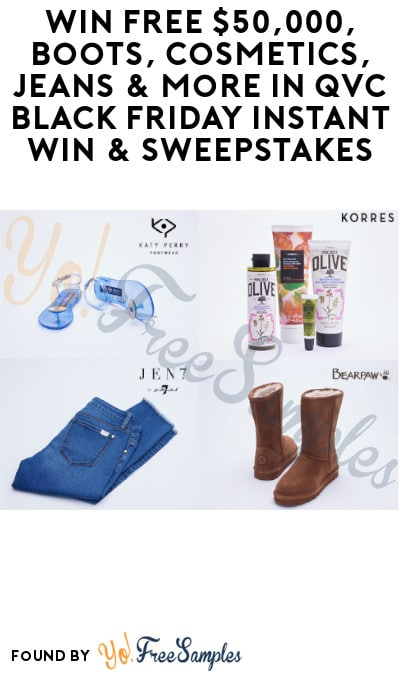 Enter Daily: Win FREE $50,000, Boots, Cosmetics, Jeans & More in QVC Black Friday Instant Win & Sweepstakes