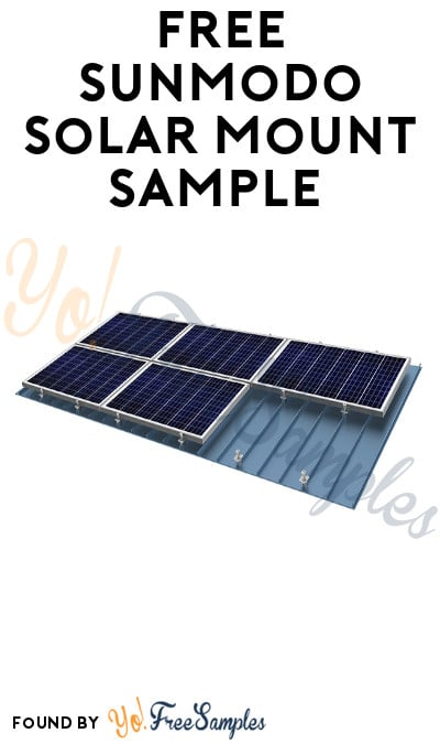 FREE Sunmodo Solar Mount Sample (Company Name Required)