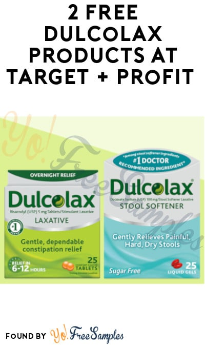 2 FREE Dulcolax Products at Target + Profit (Target Circle, Coupon & Checkout51 Required)