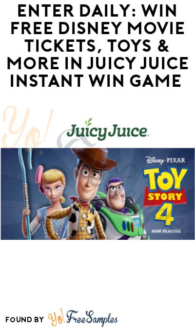 Enter Daily: Win FREE Disney Movie Tickets, Toys & More in Juicy Juice Instant Win Game – Lots of Winners!