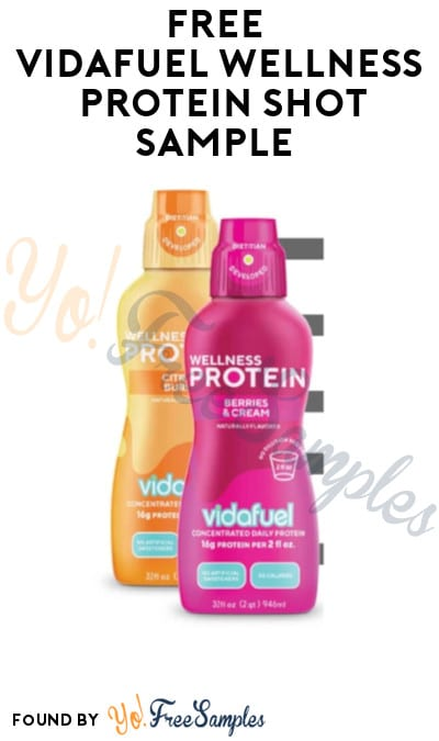 FREE Vidafuel Wellness Protein Shot Sample (Company Name Required)