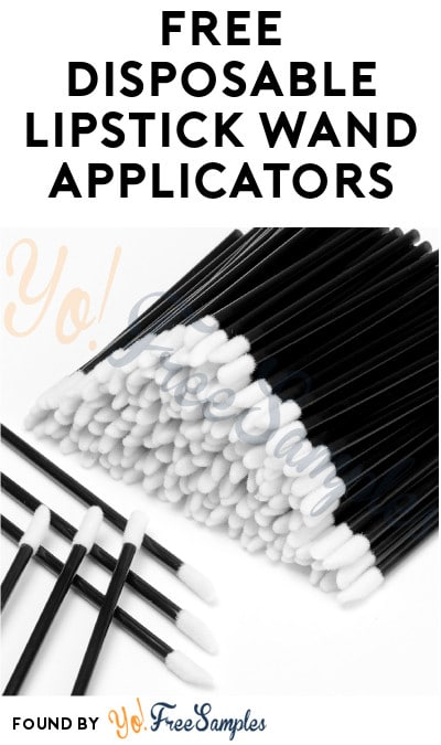 Possible FREE Disposable Lipstick Wand Applicators