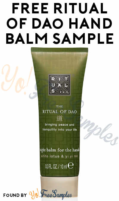 FREE Ritual Of Dao Hand Balm Sample [Verified Received By Mail]